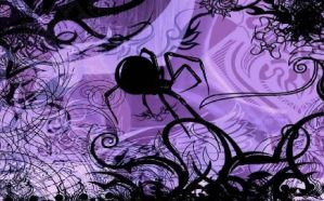 Purple Spider by Shockstar83