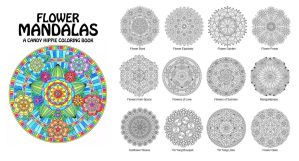Flower Mandalas Adult Coloring Book by candy-hippie