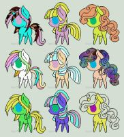 Pony adopts! 1 point each [OPEN] by YumiChanLovesTeddys