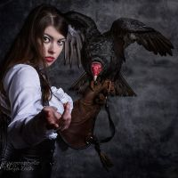 Lady and the Vulture by Mircalla-Tepez