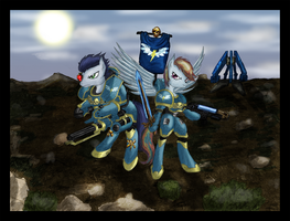 COMMISSION: SoarinDash Space Marines by Great-5