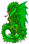 Earth Dragons Born From His Green Scales by Serenity--Fantasy