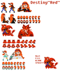 Destiny Red Sprite Sheet (Updated, Quincy ) by DeterminedLeader-Red