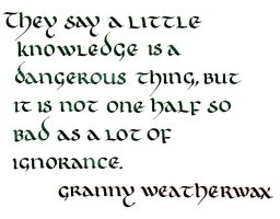 Granny Weatherwax - A Little Knowledge by MShades