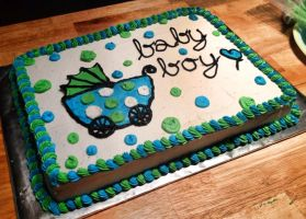 Baby boy Cake by Crosseyed-Cupcake