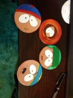 South Park leather coaster by Katiefiorito