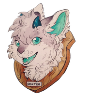 Gift:Uriko44: Taxidermy Badge by cattuccino