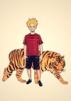 Calvin and Hobbes by Jaaaiiro