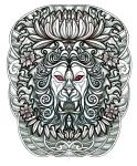 Japanese Lion Head tattoo design by thehoundofulster