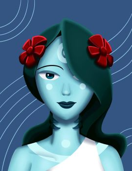 Alani Portrait (Lineless) by KellyNewbie