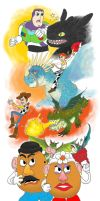 83rd Oscars: Toys vs. Dragons by CrimsonGriffin