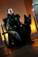 Loki with Fenrir by Sasukes-seme-Itachi