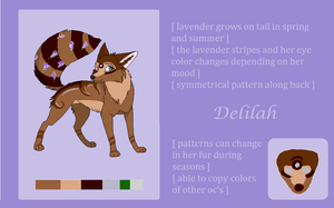 Delilah Fact/Info Sheet by Mystyeria