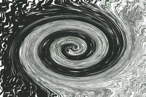 Black and white swirl by doraleepee
