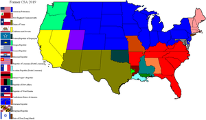 Former Confederate States by lamnay