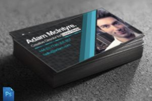 Business Card PSD Template by quickandeasy1