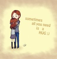 All you need is a hug by roxas-hagaren