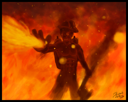 Fireman Concept Speedpaint by richardperkins