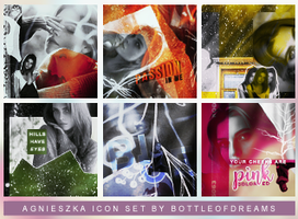 Agnieszka icon set by bottle-of-dreams