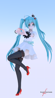 World is Mine - Miku - Cycles Render by scarynightmare-kn