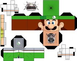 Luigi 3ds Commercal by hollowkingking