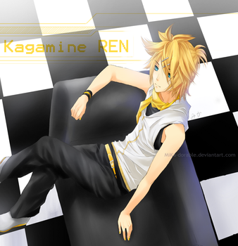 Fan art: Kagamine Ren by MiKa-dorable