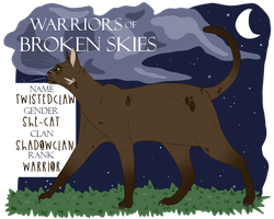 WoBS | Twistedclaw | Shadowclan Warrior | UPDATED by Jerry-Berry