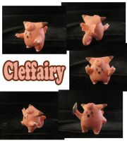 Clefairy Sculpture: Collage by ClayPita