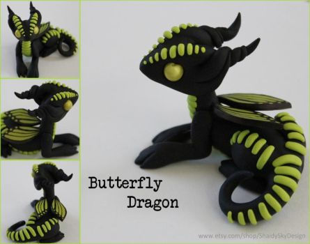 Butterfly Dragon Lime Green by ShaidySkyDesign