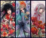 Bookmarks - Flower Boys by Ze-RoFruits