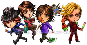 Kamen Rider Stickers 01 by viciousSHADi