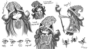 Sketches Of Lulu by MsVioletMagpie