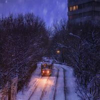 Snowfall in Moscow by KARRR