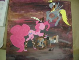 Steampunk Pinkie and Derpy by KittyKitsune13