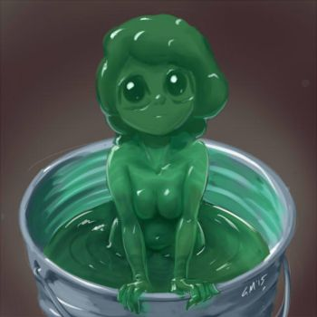 Monster Girl Challenge 03 - Slime by GiantMosquito