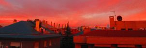 awesome  red sky by AnnarXy