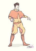 Bolin in Airbender Clothing! by artist-omako