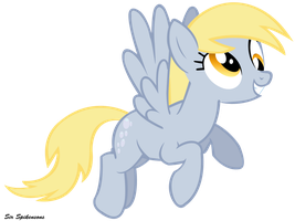 Derpy Hooves in cloudsdale by SirSpikensons