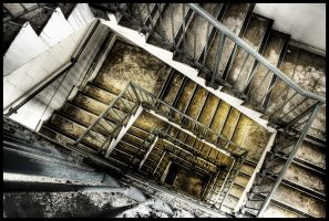 Concrete Stairwell by Leitc