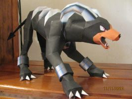 Houndoom Papercraft by x0xChelseax0x