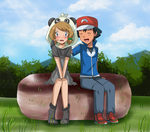 cute face amourshipping by hikariangelove