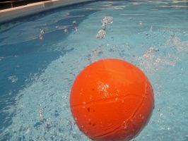 Basketball Bouncing in Swimming Pool by TheWizardofOzzy
