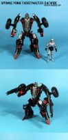 Optimus Prime Targetmaster: Backfire with Robocop by Unicron9