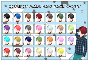 Male Hair Pack - 003 by NadeHakashi