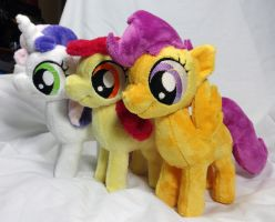 Cutie Mark Crusaders Plushy Set by Cryptic-Enigma