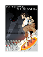 Portal: Art Deco Style Poster by forte-girl7