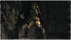 Orc Warrior - Axe Pose - Skyrim by Jace-Lethecus