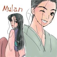 Mulan and Pin by shibu