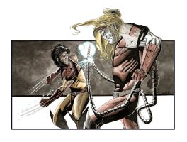 Wolverine vs Omega red by Leadjunky