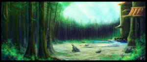 :: Tython Forest Temple :: by warui-shoujo
